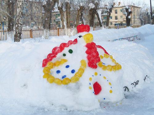 Зимние постройки в детском саду своими руками фото