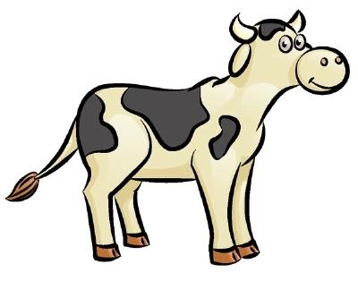 Корова в саду