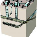 Схема шахты в разрезе