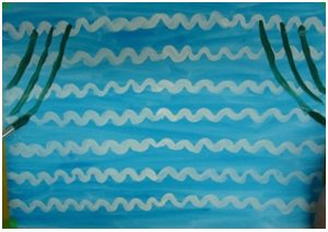Занятие «Лебединое озеро». Рисование двумя руками